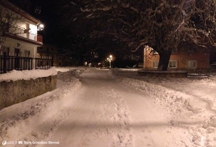 Camporredondo de Alba. Nevada. Palencia. Nieve