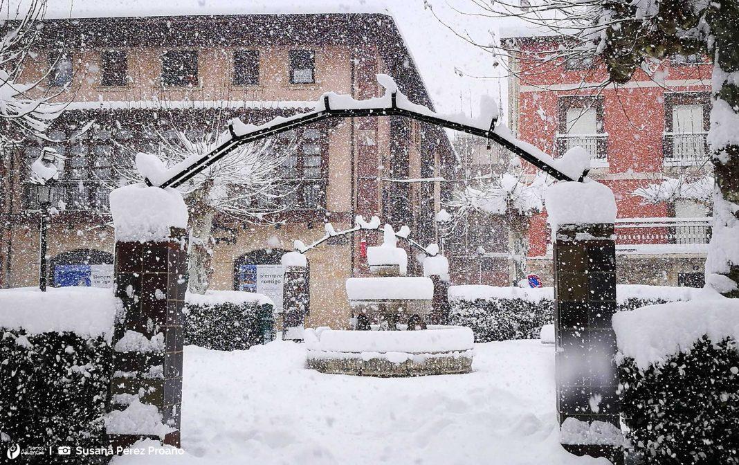 Cervera de Pisuerga. Nevada. Palencia. Nieve