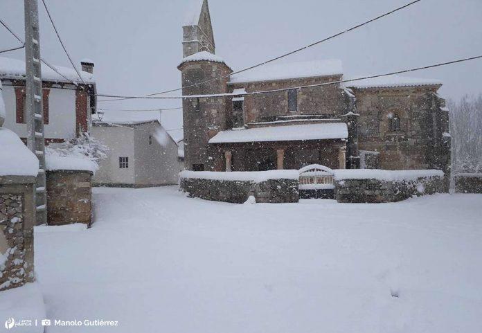 Vega de Bur. Palencia. Nevada. Nieve