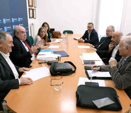 Diputación y Obispado se reúnen para avanzar aspectos técnicos del proyecto Campos del Renacimiento
