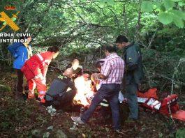 """Rescata a una montañera accidentada en el""""Arroyo de Cueva Teresa"""""""