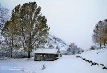 La nieve cubre ya los pueblos de la Montaña Palentina