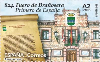 Correos emite un sello en homenaje a Brañosera como primer municipio de España