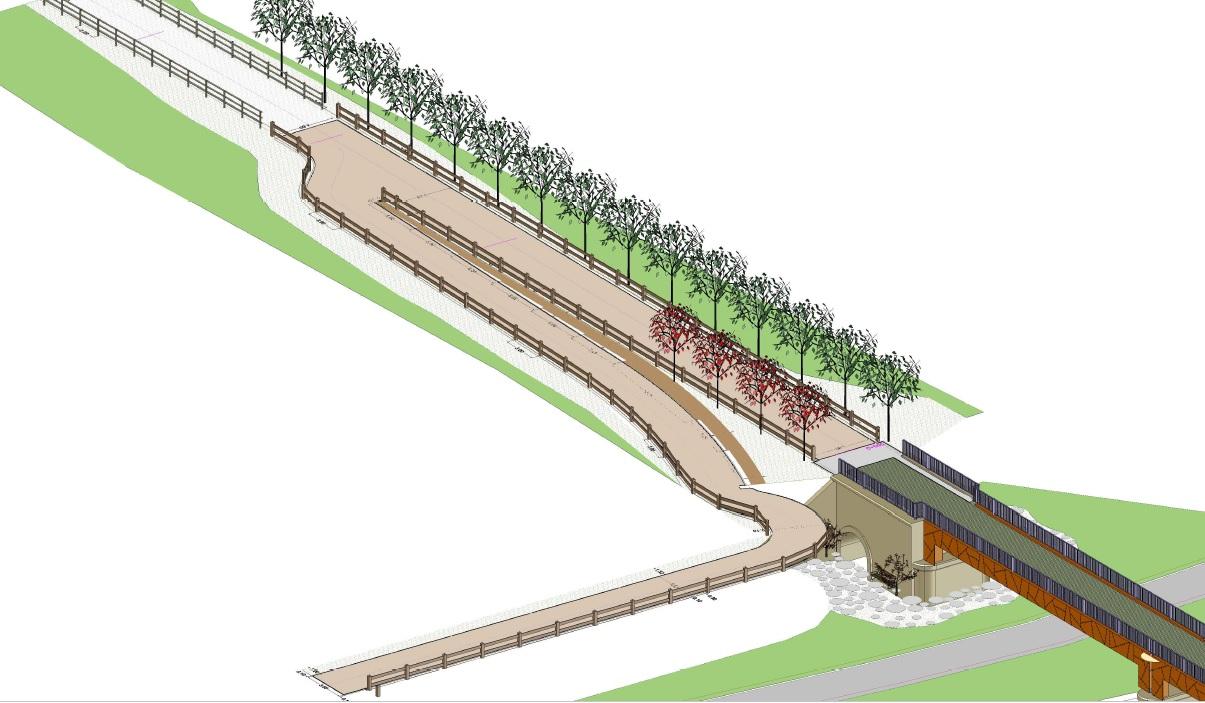 Así será la nueva pasarela sobre el río Carrión en Palencia